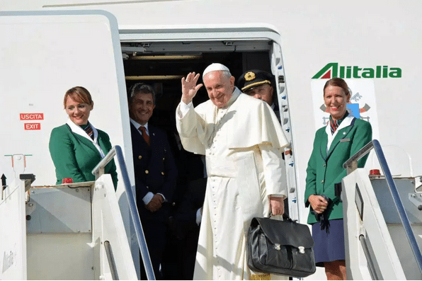 Pope Francis departs