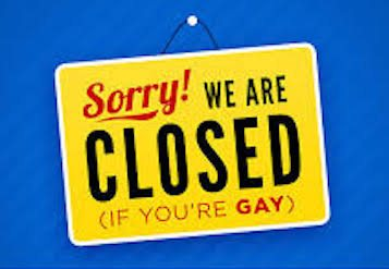 Religious Freedom gay sign